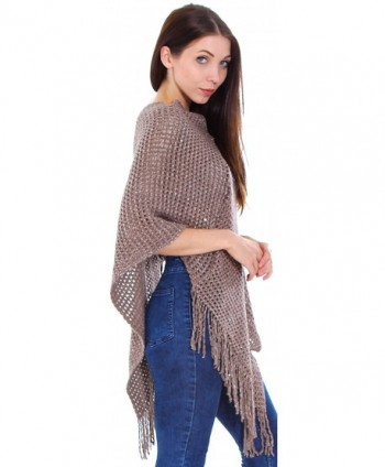 Livingston Ponchos Crochet Fringed Sequins