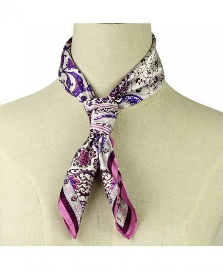 "Silk Scarf Luxurious Square Warp -100% Nature Silk Hankerchief 21""21"" - Color 6 - CO1839HLYZQ"