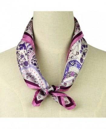 Luxurious Square Pantonight Velvet Flower in Fashion Scarves