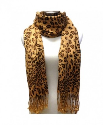Tapp Collections Premium Fashion Animal Print Shawl Scarf Wrap - Leopard (Coffee Brown) - CO11BCLTHTD