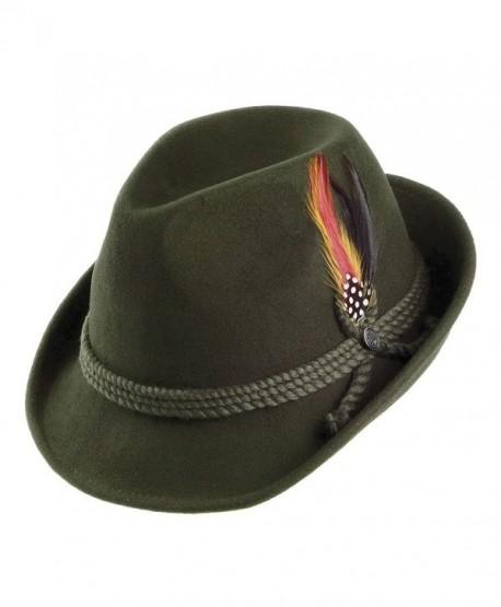 Jaxon Alpine Fedora Hat - Moss - CT113ZBMRGX