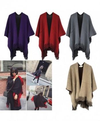 Kocome Fashion Blanket Oversized Poncho in Wraps & Pashminas