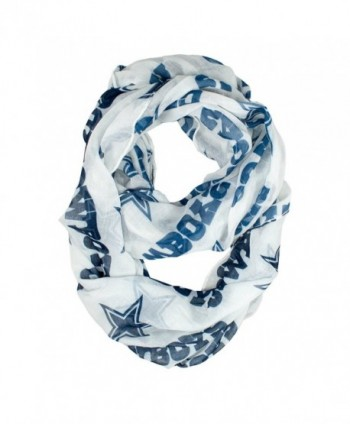 Dallas Cowboys White Infinity Scarf-9879 - CS1239UZGYJ