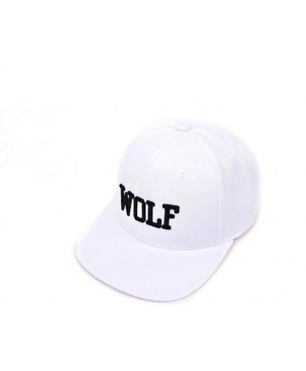 EXO kpop hat album overdose new logo wolf embroidery word hiphop cap snapback - white - CV11KSZN7H7