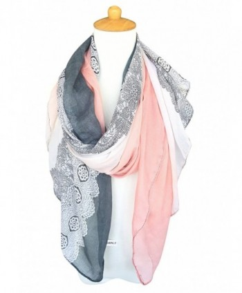 GERINLY Lightweight Scarves Fashion LightPink