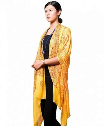 Handmade Yoga Om Nama Shiva Prayer Shawl/ Scarf - Yellow - CP129F3164D