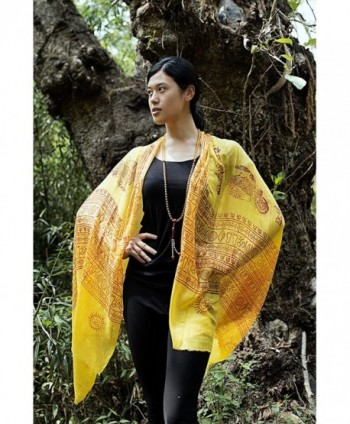 Handmade Shiva Prayer Shawl Yellow