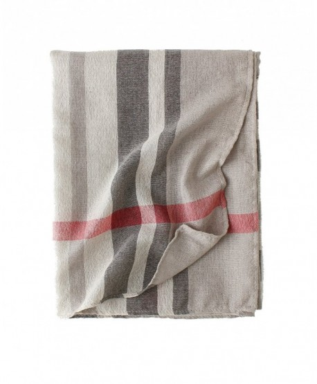 Cotton Scarf Shawl Wrap Soft Lightweight Scarves And Wraps For Men And Women. - Beige Plaid - C7189R5DY4O