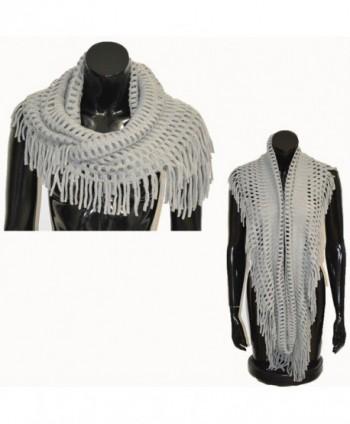 Design Fringe Knitted Crochet Infinity