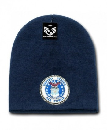 Military Logo Classic Work Short Winter Beanie Skull Caps S90 - Air Force Logo - C111L9KE49Z