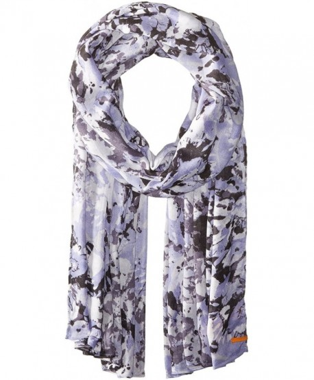 Lucy Women's Destination Everywhere Light Weight Scarf - Rich Navy Tie Dye Print - CM12O6I8Z4H