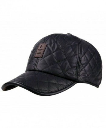 Estwell Winter Baseball Cap Hat- Unisex Thick Warm Cap With Ear Flap Adjustable Casual Sport Trucker Cap - Black - CV186KDA7TG