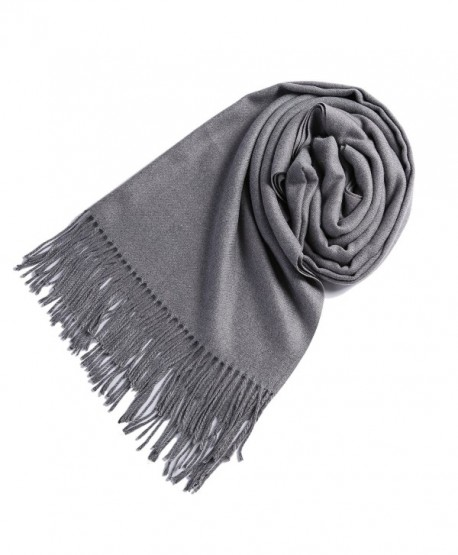 Timo Lee Fashion Cashmere Scarves Pashminas - Gray - CQ1868XCZ02
