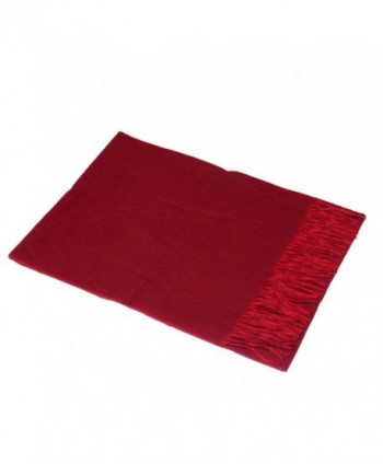 Saferin Cashmere Lambswool Reversible Side Burgundy