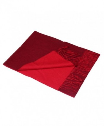 Saferin Cashmere Lambswool Reversible Side Burgundy in Cold Weather Scarves & Wraps