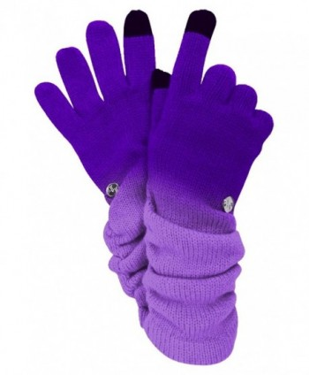 Purple Ombre Texting Gloves Scarf in Cold Weather Scarves & Wraps
