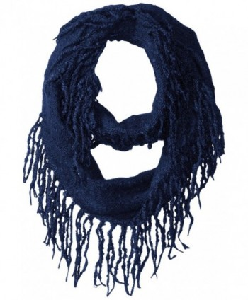 Jessica Simpson Women's Boucle Fringed Eternity Scarf - Navy - CD12KI5LYZN