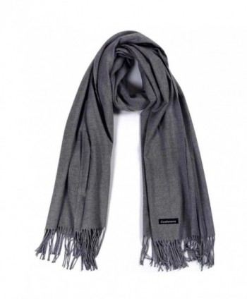Cashmere Scarf-Winter Solid Color Unisex Women's Scarves-Warm Wraps Shawls - Dark Gray - C51892I04WX