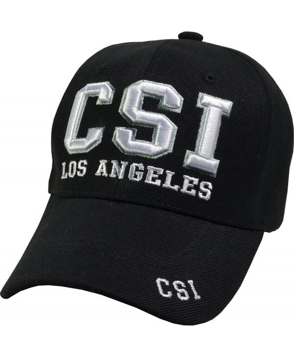 CSI Crime Scene Investigator Embroidered Baseball Hats (5 Styles) LV - LA - NY - Csi La - CW11TL93W8Z