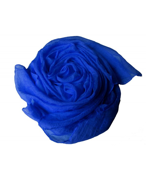 Scarves for Women Soft Lightweight Shawls and Beach Wraps Fashion Shawls Wraps Solid Color - Royal Blue - CS1854YY360