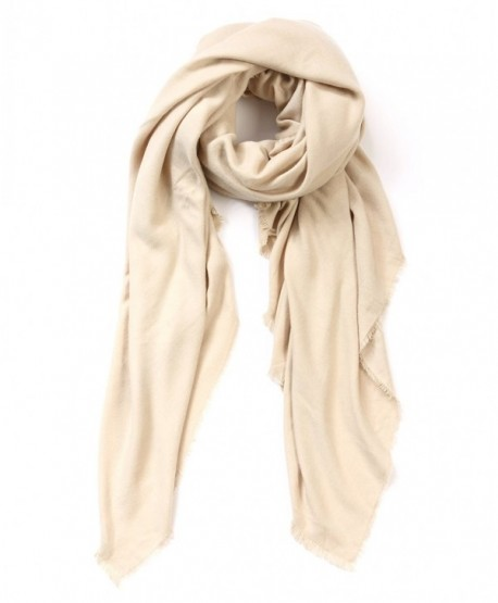 Womens Rich Solid Long Scarf- Soft and Warm Shawl Warp- Formal Party Scarf - Camel - C51867SE3E6
