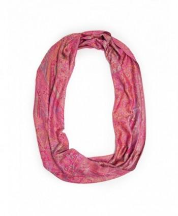 Bohomonde Rajana Infinity Scarf- Richly Colored Rare Pashmina Infinity- - Hot Pink - CX11OAK638F