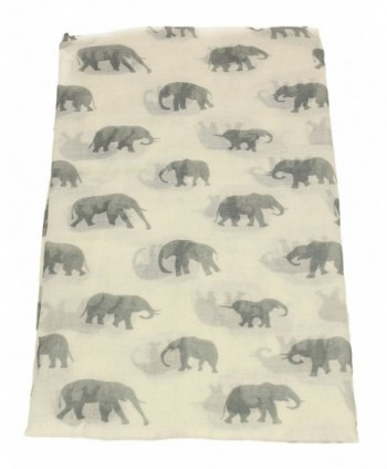 c8f61429ac19a ... Shawl Wrap - White - CK12NH02JOQ; Elephant Print Womens Ladies Viscose