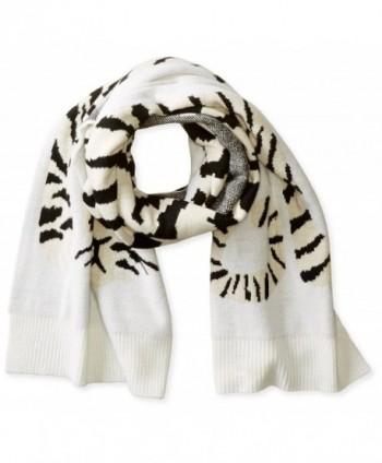 BCBGMAXAZRIA Women's Knit Tiger Muffler - Ivory - C611K7BBAL1