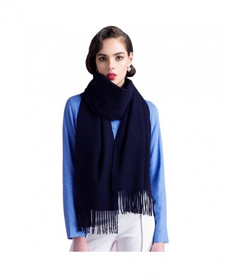 Cashmere Scarfs for Women and Men-Large Warm Soft Scarf Shawls Wrap Gift - Dark Blue - CM1804UG6UN