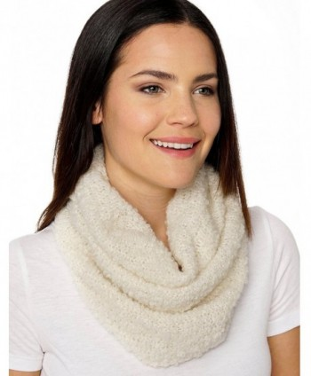 Invisible World Women's Pure 100% Baby Alpaca Chunky Scarf Neck Gaiter - White - CP12KY2VR9X