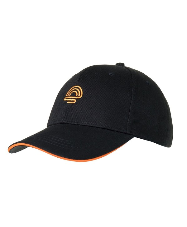 sunpirit Embroidered Black Baseball Cap For Men and Women Adjustable Buckle Strap - CG18808XIT5