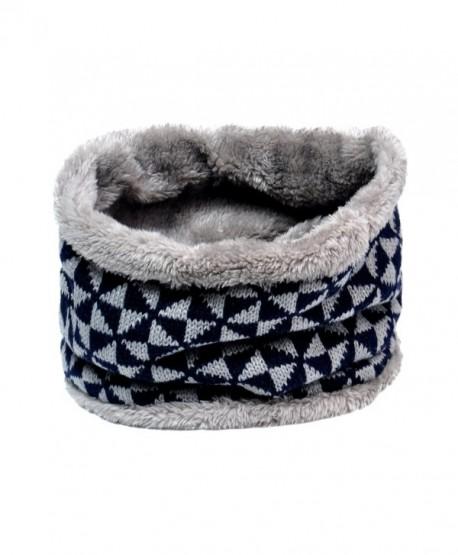 Lo Shokim Winter Double-Layer Fashion Fleece Lining Knit Neck Warmer Circle Scarf Windproof - 202 - CI186IC62LW