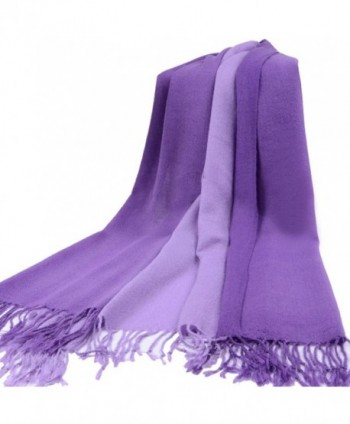 TopTie Scarf Tassel Solid Tow Tone in Cold Weather Scarves & Wraps