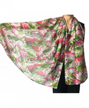 Lina Lily Flamingo Lightweight Background in Fashion Scarves