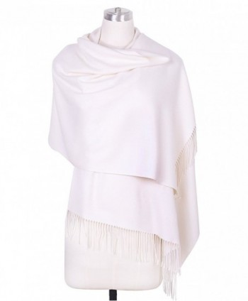 DRESSOLE Soft Cashmere Scarf for Women Chic Pashmina Shawls Scarves Poncho - Off-White - C7188UXIKZO