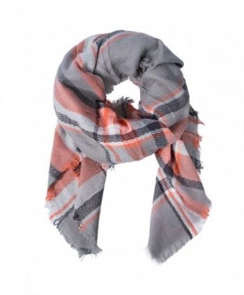 Women's Fashion Long Shawl Big Grid Winter Warm Lattice Large Scarf - Mix Color A5 - CM188KLC0AZ