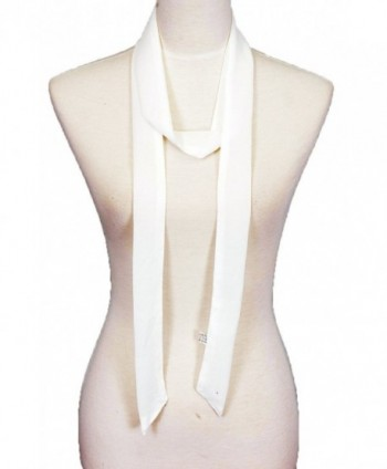 plain- Solid color- Summer skinny scarf- narrow fashion scarf - White - CW17YQ2TC8N