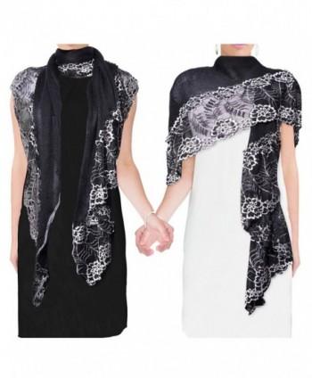Lace Flower Acrylic Fashion Scarf