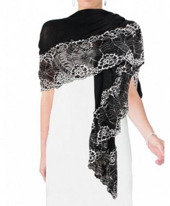 Lace Flower Acrylic Fashion Scarf in Fashion Scarves