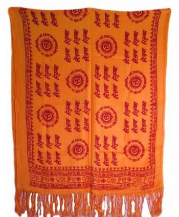 Yoga Om Hare Rama Hare Krishna Meditation Prayer Shawl Scarf Stole (Yellow) - CQ11BLI2MFD