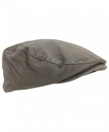 Universal Textiles Mens Waxed Flat Cap With Tartan Lining - Khaki - CD129KMRA6V