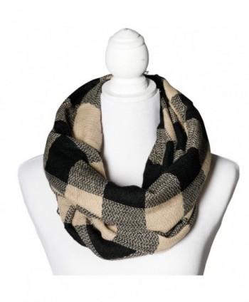 Caramel & Black Buffalo Infinity Scarf Funky Monkey Fashion Warm Cozy Scarves - CJ1874ZSOIC