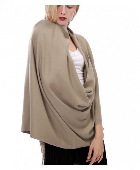 ALAIX Womens'Cashmere Feel Lightweight Scarf Winter Shawl Wrap - Khaki - CC187UCRN4R