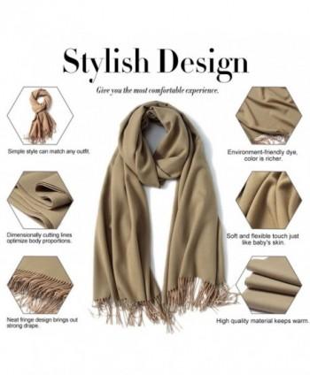 ALAIX WomensPashmina Scarf Winter Wrap Khaki in Wraps & Pashminas