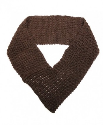 Brown Chunky Triangle Infinity Scarf in Cold Weather Scarves & Wraps