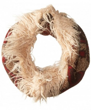 Muk Luks Women's Gaucho Girl Funnel Scarf-Zig Zag Tribal - Brown - C812F6B1EBN