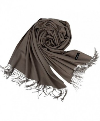 "Cashmere Scarf for Women and Men - Super Soft and Warm 23""x 82"" Winter Wool Wrap Shawl - Light Coffee - CP1858OL3E4"