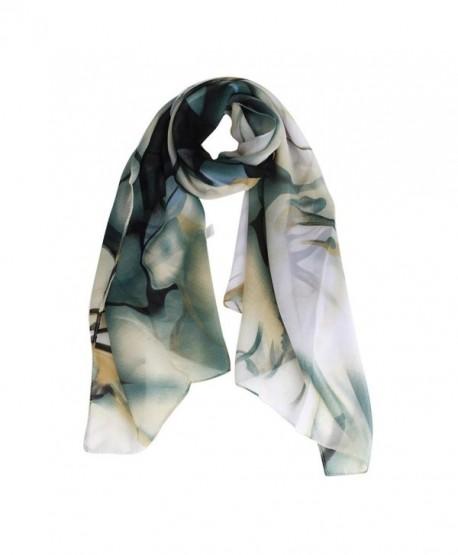 TONSEE Fashion Lady Long Wrap Women's Shawl Chiffon Scarf - Blue - CD12NRDA9BH