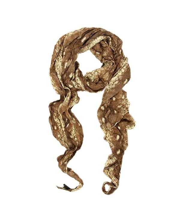 Premium Exotic Snake Skin Animal Print Scarf - CL110GWUGJJ
