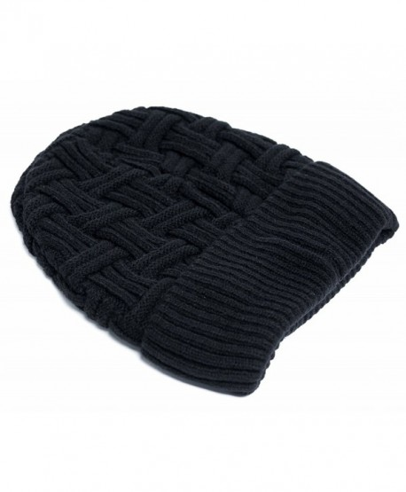 BCOCOB Mens Winter Knitting Hats Wool Warm Baggy Slouchy Hat Daily Slouchy hats Beanie Skull Cap - CZ188EDYAD3
